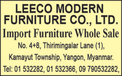 Modern Furniture Yangon leeco modern furniture co., ltd. - myanmar business directory