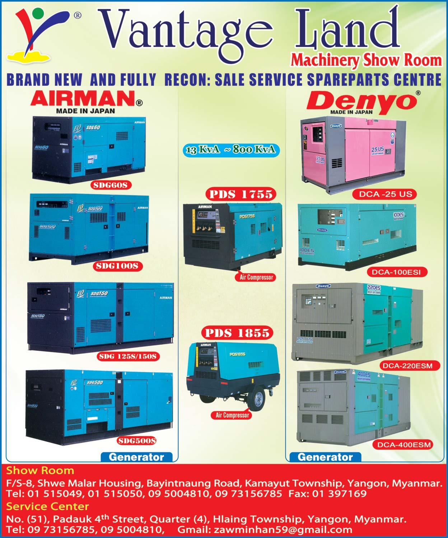 Vantage LandGenerators & Transformers Sales/Services & Rental